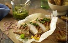 Hühnerbrustfilet mit Koriander-Pesto